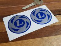 British Leyland Logo Wheel Centre Stickers. 50mm, 75mm, or 80mm Pair.