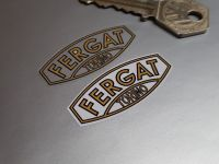 Fergat Torino Wheel Stickers - White or Clear Background - Set of 4 - 44mm