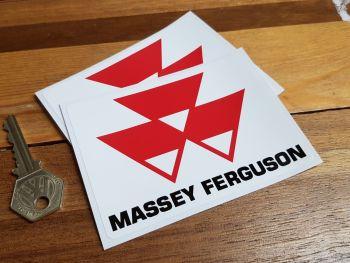 "Massey Ferguson Later Badge Stickers - 2.25"", 4"", or 8"" Pair"