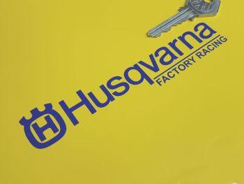 "Husqvarna Factory Racing Cut Text & Logo Stickers 5.5"" Pair"