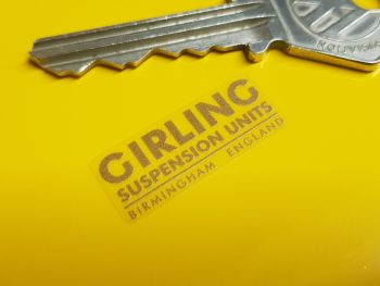 """Girling Suspension Units Stickers - Set of 4 - 1"""""""