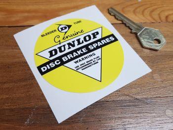 """Dunlop Genuine Disc Brake Spares Sticker 3"""""""
