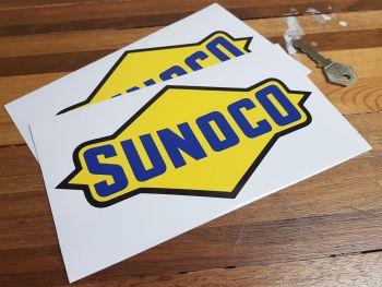 "Sunoco Plain Style Stickers 8"" Pair"