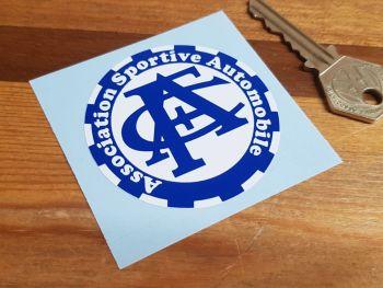 ACF Association Sportive Automobile Circular Sticker 60mm