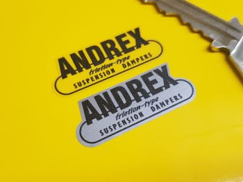 "Andrex Suspension Dampers Stickers 1.5"" Pair"