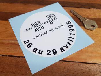 """Tour de France Auto 1995 Controle Technique Sticker 4"""""""