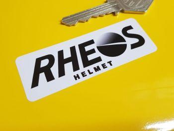"Rheos Helmet Senna etc Thin Oblong Sticker - White Background - 3"""