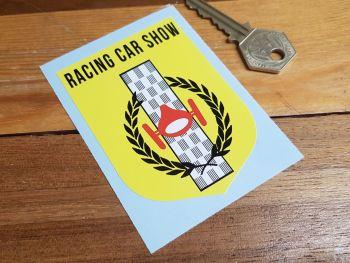 "Racing Car Show Shield Sticker 3.5"""