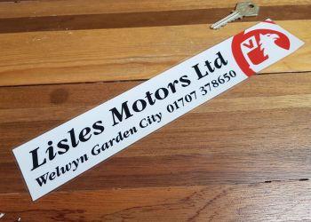 "Vauxhall Dealer Window Sticker - Lisles Motors Ltd - 11"""