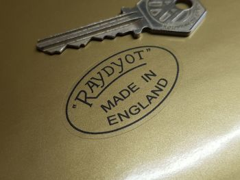 "Raydyot Made in England Racing Mirror Stickers 1.75"" Pair"