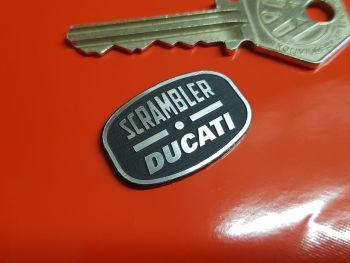 Ducati Scrambler Self Adhesive Bike Badge 30mm