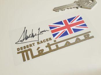 """Rickman Metisse Desert Racer Steve McQueen Stickers - 4.25"""" Pair"""