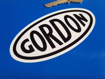 """Gordon English Tools Black on White Oval Sticker 4.75"""""""