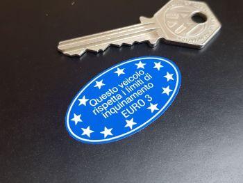 """Vespa Piaggio Aprilia Euro 3 Sticker 1.75"""""""