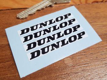 Dunlop Black & White Oblong Stickers - 52mm - Set of 4