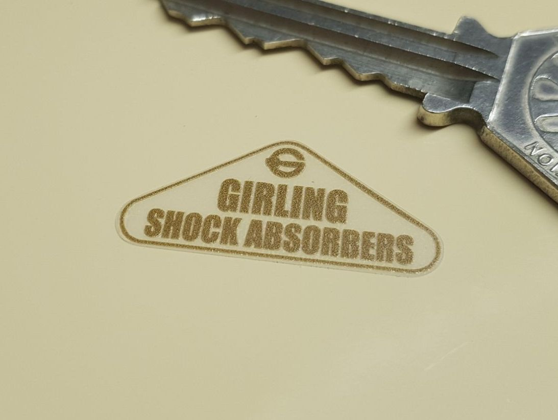 Girling Shock Absorbers Gold & Clear Stickers - Set of 4 - 30mm