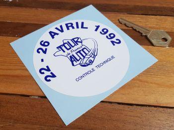 """Tour de France Auto 1992 Controle Technique Sticker 4"""""""