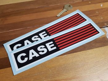"""Case Tractor Oblong Stickers. 8"""" Pair."""