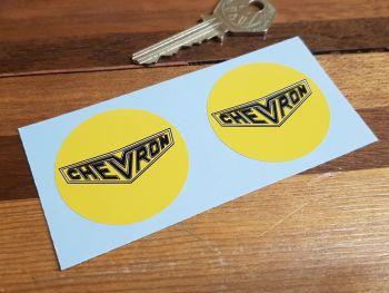 Chevron Cars Circular Lighter Style Stickers 43mm Pair