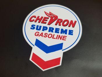 "Chevron Old Keyhole Style Supreme Gasoline Sticker - 6"" or 10"""