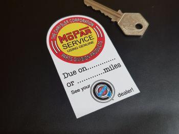 """Chrysler Corporation Mopar Service Sticker 3.5"""""""