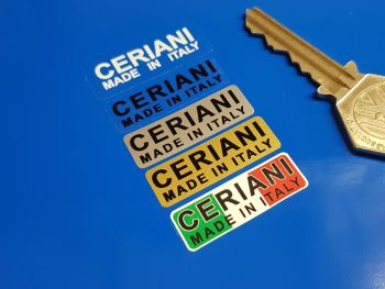 Ceriani Made In Italy Suspension Fork Stickers - 35mm Pair