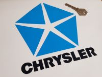 "Chrysler Logo & Text, Cut to Shape Sticker - 6"" x 7.5"""