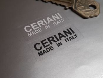 Ceriani Made In Italy Suspension Fork Black/White & Clear Stickers - 40mm Pair