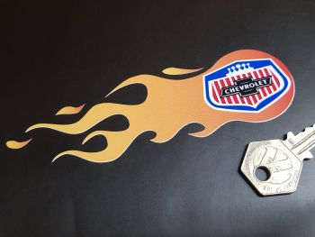 """Chevrolet Flames Stickers 5.5"""" Pair"""