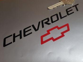 "Chevrolet Black & Red Cut Vinyl Sticker 9.5"""