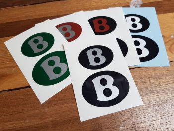 Bentley Oval Badge Slightly Domed Stickers - 40mm & 50mm Pair