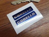 Carello Foglight Stickers - Blue & Foil - 39mm Pair