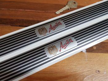 Austin Narrow Kick Plate Protector Stickers - 575mm x 38mm Pair