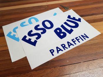 "Esso Blue Paraffin Cut Text Sticker - Style 1 - 6"" or 12"""
