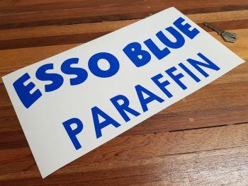 """Esso Blue Paraffin Cut Text Sticker - Style 2 - 12"""""""