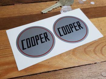 "Cooper Circular Stickers - Squared Text - 2"" Pair"