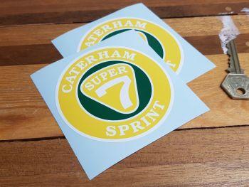 """Caterham Super 7 Sprint Stickers 3.5"""" Pair"""