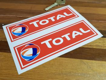 """Total Red Oblong Stickers - 4.25"""" or 6"""" Pair"""