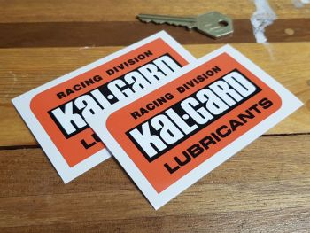 """Kal-Gard Racing Division Lubricants Stickers 3.5"""" Pair"""