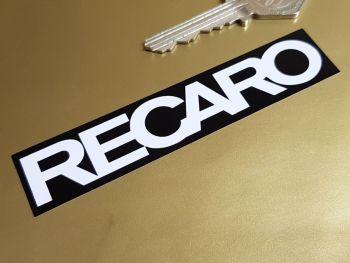"""Recaro Seats Black & White Stickers 4"""" Pair"""