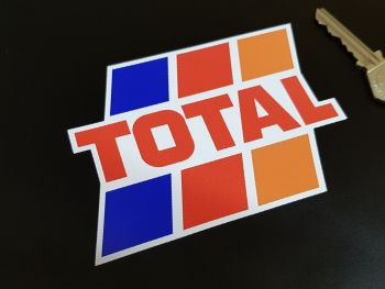 """Total Fuel Stripes Shaped Stickers  4.5"""" Pair"""