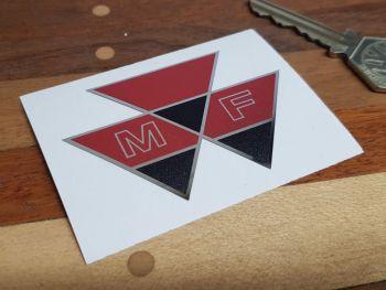 "Massey Ferguson Triangle Logo Chrome Style Sticker 2.75"""