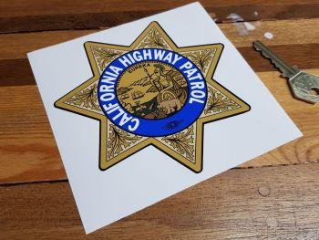 "California Highway Patrol Star Shield Car Sticker - Gold Non-Metallic Style - 5"""