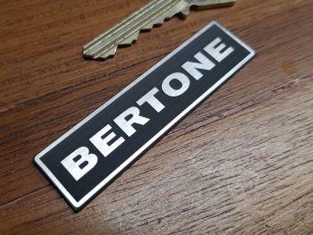 "Bertone Oblong Self Adhesive Car Badge - Upper Case Style - 2.75"""