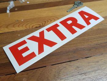 """Esso Extra Red Cut Vinyl Sticker 9"""""""
