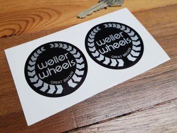 Weller Wheels Wheel Centre Style Stickers 57mm Pair