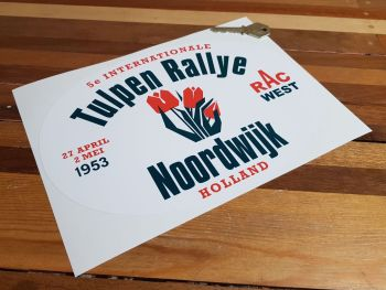 "Tulip Rally Tulpenrallye 1953 Sticker 10"""