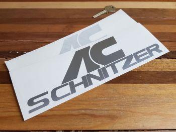 "AC Schnitzer Plain Text Style Cut Vinyl Stickers 10"" Pair"