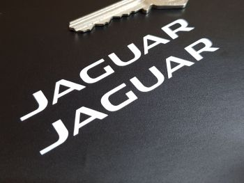 """Jaguar Cut Text Later Style Stickers - 3"""" or 4"""" Pair"""