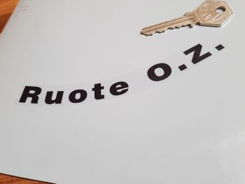 Ruote OZ Black & Clear Curved Wheel Stickers - 72mm or 145mm - Set of 4